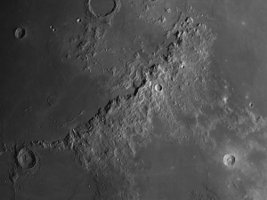 Apennine Mountain Range See On The Moon March 1