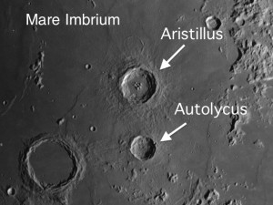 Aristillus-Autolycus Lunar Day 7-11 Observe Aristillus, Complex Crater on the Moon