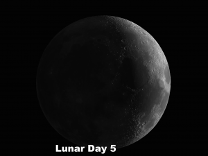 Lunar Day 5 Theophilus, Cyrillus, Catharina - most imposing trio of craters on the moon