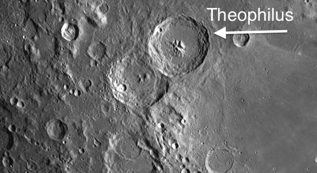 The Most Imposing Trio of Craters on the Moon: Theophilus, Cyrillus, Catharina