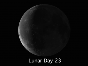 lunar Day 23 to the beginning of Day 1
