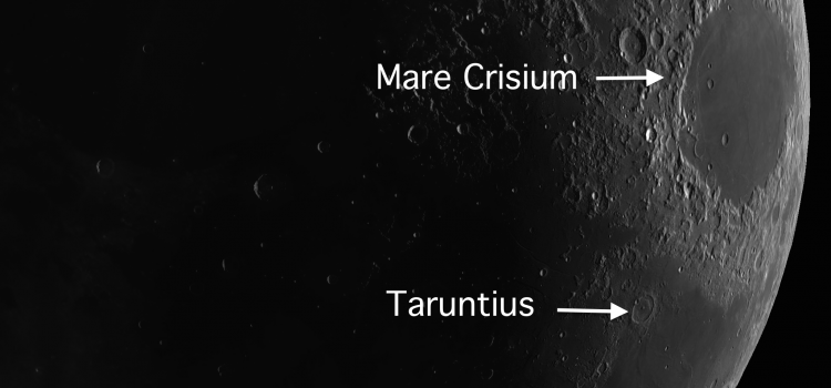 Taruntius – A Floor-Fractured Crater on the Moon and the Eskimo Nebula: Lunar Days 4-9