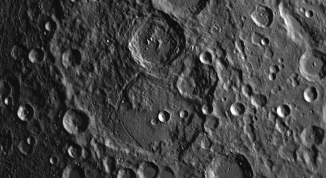 Janssen Lunar Moon Crater: Example of How New Craters are Superimposed on Top of Older Craters
