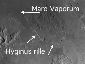 Mare Vaporum and Hyginus Rille