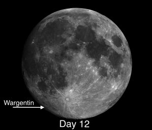 Lunar Day 12 Wargentin, One of the More Unusual Craters on the Moon