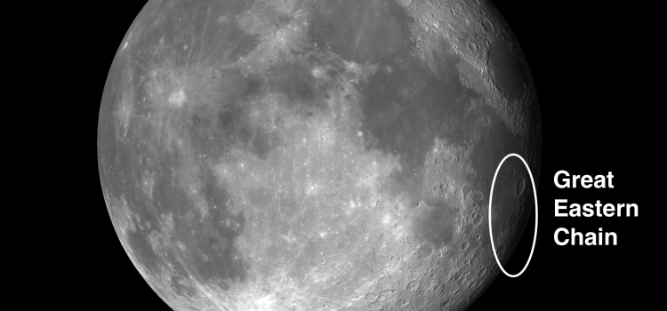 The Great Eastern Chain on the Moon and a Naked Eye Challenge