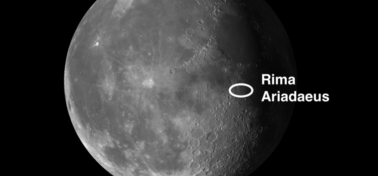 #SuperMoon and #RimaAriadaeus, One of the Best Rilles on the Moon