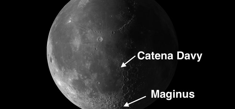 Maginus and Catena Davy: Fascinating #MoonCraters