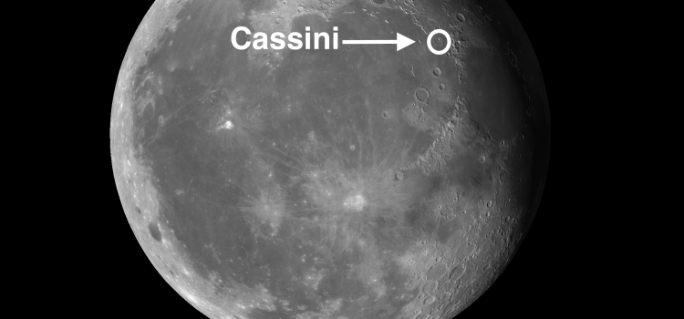 History of #MoonCrater Cassini