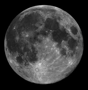 To be strictly technical, we never actually see a full moon. Such an object must be exactly opposite the Sun from the Earth; it would therefore be in the Earth's shadow and we would be in the grips of a lunar eclipse.