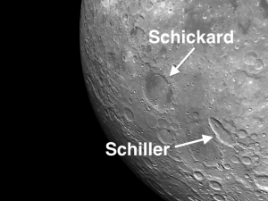Unusual Feature of the Moon Crater Schickard