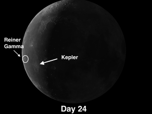 Crater Kepler has Impressive System of Splash Rays on Moon