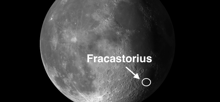 Fracastorius Moon Crater: One of the Moon's Best Examples of Subsidence and Venus at Its Peak Brightness