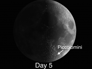 Lunar Day 5 Piccolomini