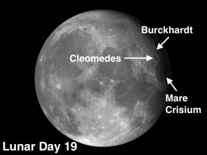 Cleomedes and Burckhardt Moon Craters