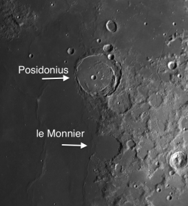 Two Moon Craters of any Consequence on Mare Serenitatis: Posidonius and le Monnier