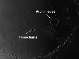 Timocharis Moon Crater
