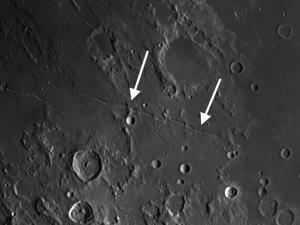 Rima Ariadaeus and rilles on the moon