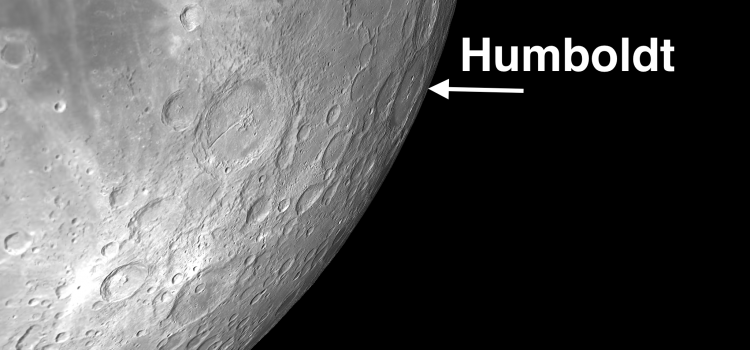 Humboldt: Moon Crater Best Viewed When There is a Pronounced Libration