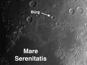 Burg Moon Crater and Mare Serenitatis
