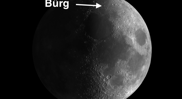 Centerpiece of Lake of Death: Moon Crater Burg