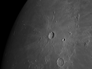 Kepler moon crater