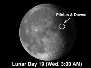 craters Plinius and Dawes