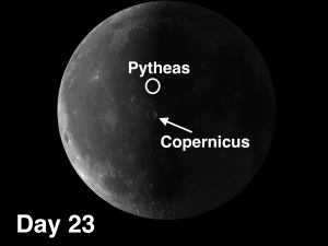 Pytheas secondary craters