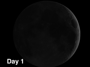 thinnest crescent on the moonyou can see with the naked eyes