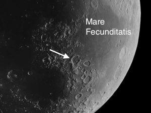Gutenberg Moon Crater