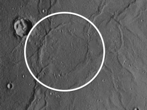 Lamont ghost crater on the moon
