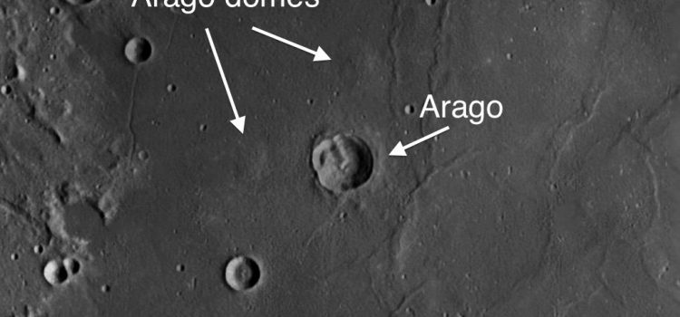 Arago Crater and Arago Domes on the Moon: Evidence of Volcanic Activity