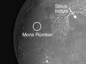 Mons Rümker dome on the moon
