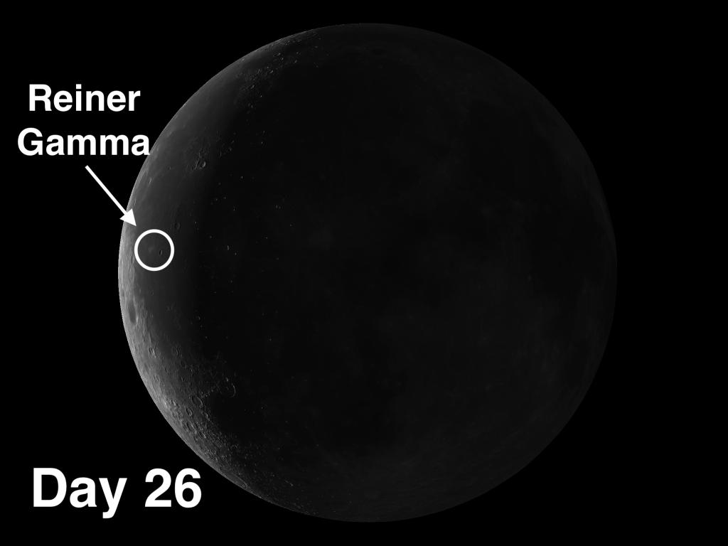 Reiner Gamma on the moon