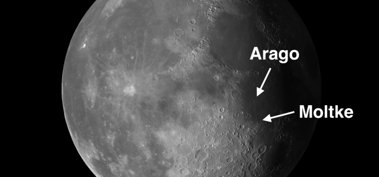 Two #MoonCraters with Distinct Characteristics