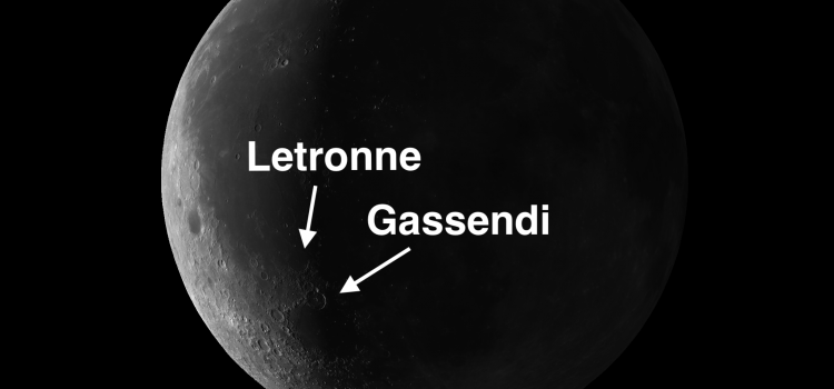 #Mooncraters Gassendi and Letronne: The Diamond Ring in the Sky