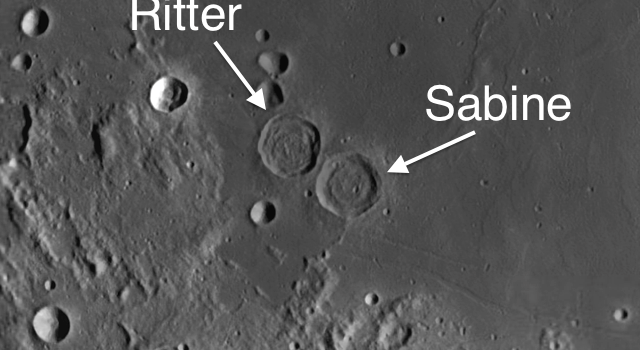 Two Unusual Moon Craters Near Apollo 11 Landing Site