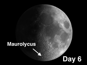 Maurolycus crater located in the lunar Highlands, where angels fear to tread.