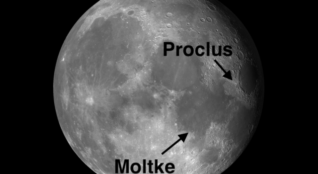 Proclus and Moltke: Simple #MoonCraters