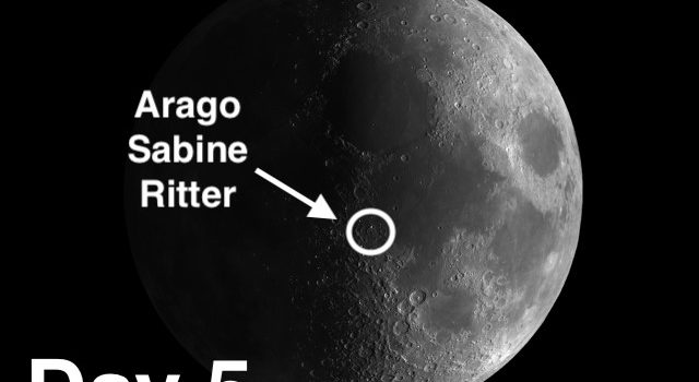 Unusual and Curious Moon Craters: Arago, Sabine and Ritter