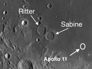 sabine and ritter moon craters
