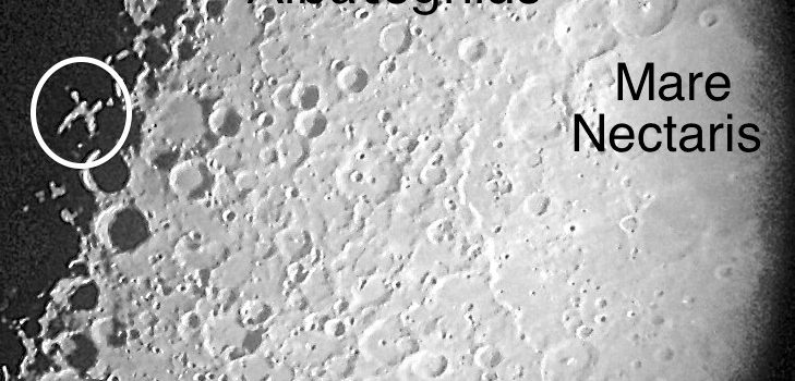 Brilliantly Lit Lunar X on the Moon