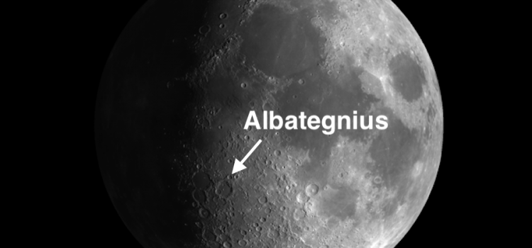 #MoonCrater Albategnius: 85 Mile Complex Crater