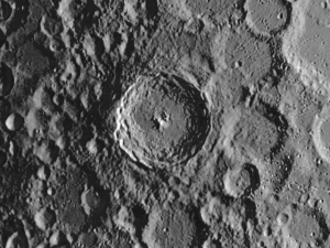crater Tycho on Moon
