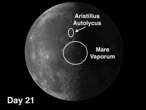 Mare Vaporum and the craters Aristillus & Autolycus