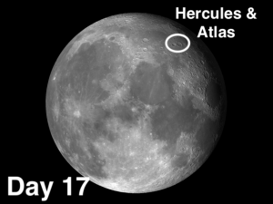 Hercules and Atlas moon craters