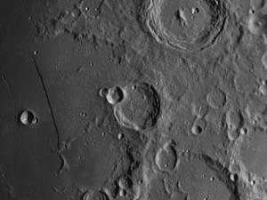 Thebit moon crater