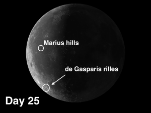 Day 25 de Gasparis rilles and Marius Hills