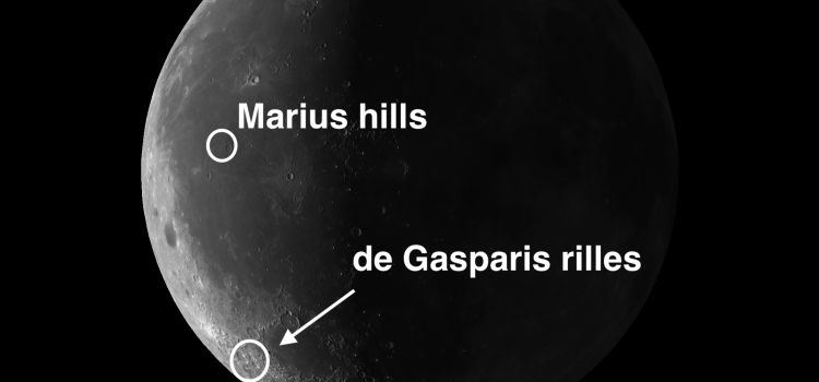 de Gasparis Rilles: A Hub of Rille Activity and Marius Hills: The Largest Dome Field