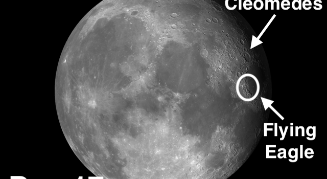 Cleomedes the First Significant Crater on the #Moon and The Flying Eagle